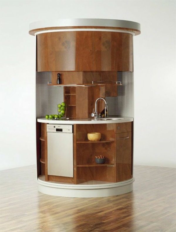 küchengestaltung dunkel braun moderne