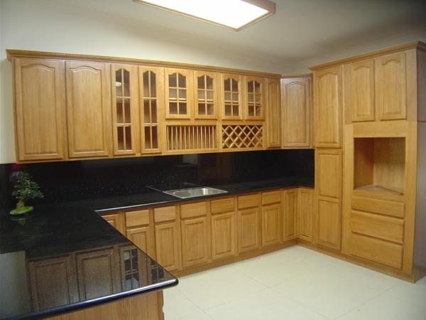küchenfarben - hell braun und schwarz - moderne küche ausstattung
