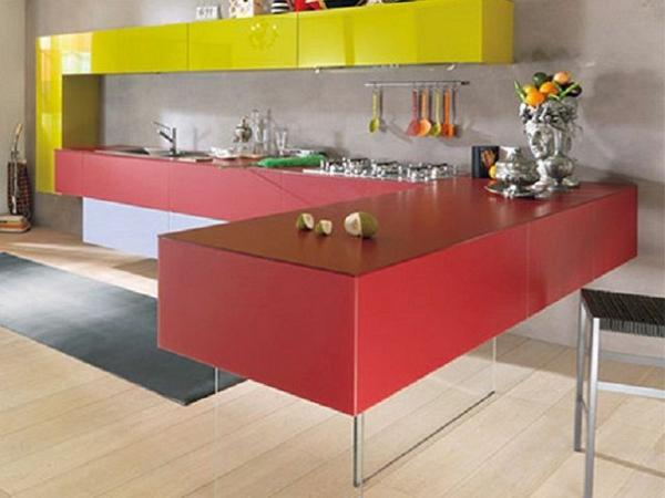 rote und gelbe farbe für die küche - moderne farbgestaltung