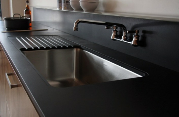 schwarze gestaltung für die küche