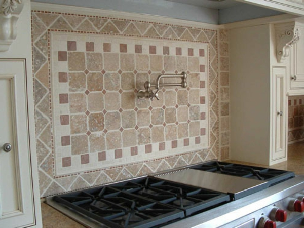 malerschablone schlichte farben küchenspiegel