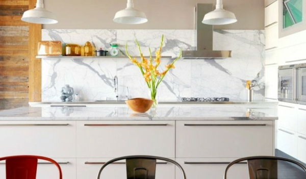 küchenrückwand aus marmor