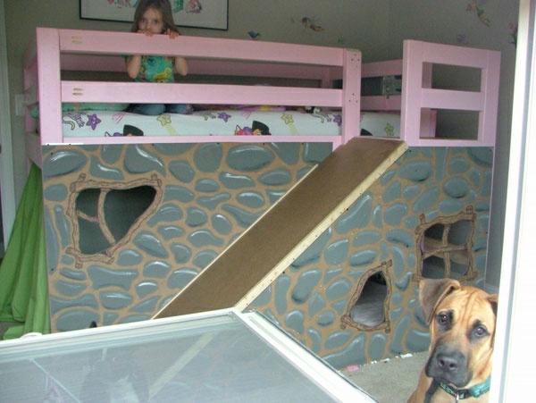 Hochbett mit Rutsche - Spaß im Kinderzimmer - Archzine.net | {Kinderhochbett mit rutsche 43}
