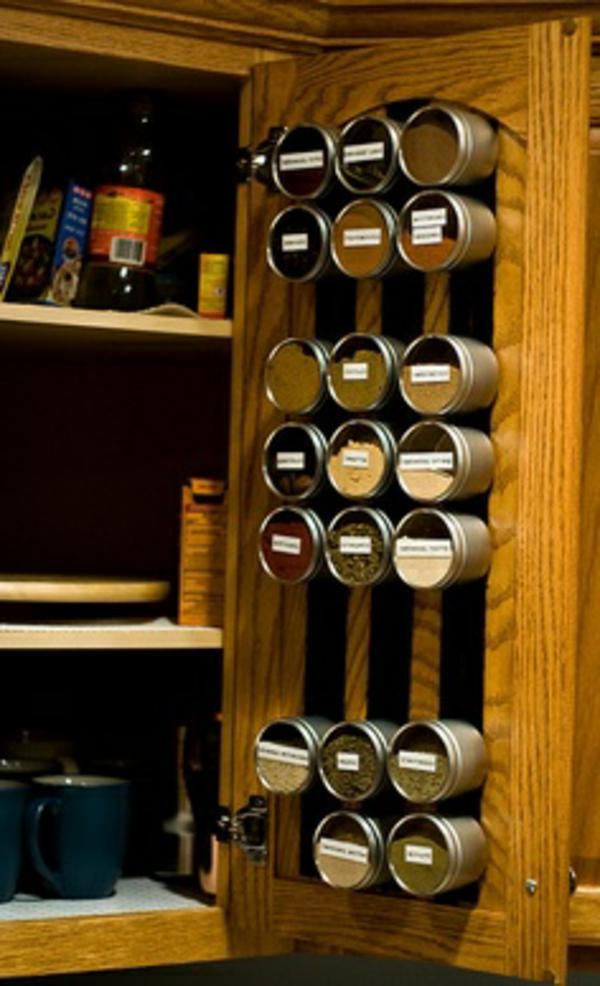25 gew rzaufbewahrung ideen besonders f r kleine k chen geeignet. Black Bedroom Furniture Sets. Home Design Ideas