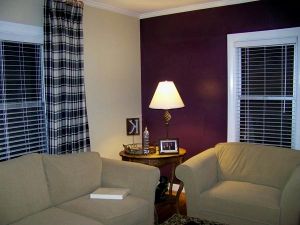 kontrastierende farben im wohnzimmer - moderne streichen idee