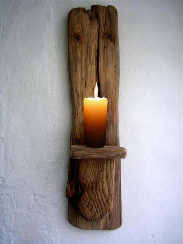 Kerzenhalter Holz Selber Bauen ~ Wunderbare Treibholz Deko, die auch praktisch sein kann – 45