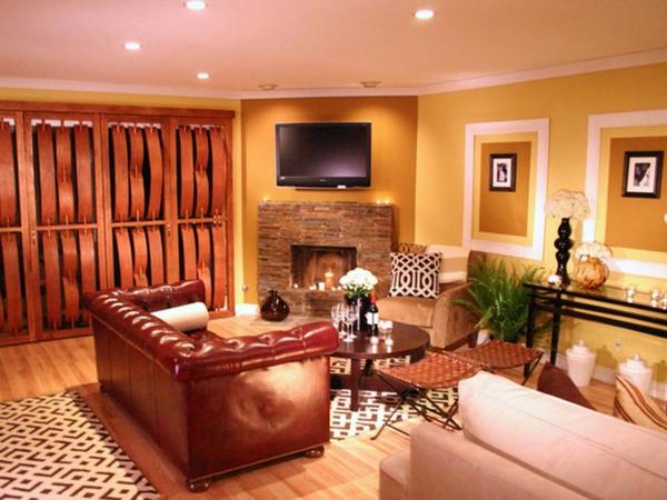 wände schön gestalten- im wohnzimmer, helle farbtönungen