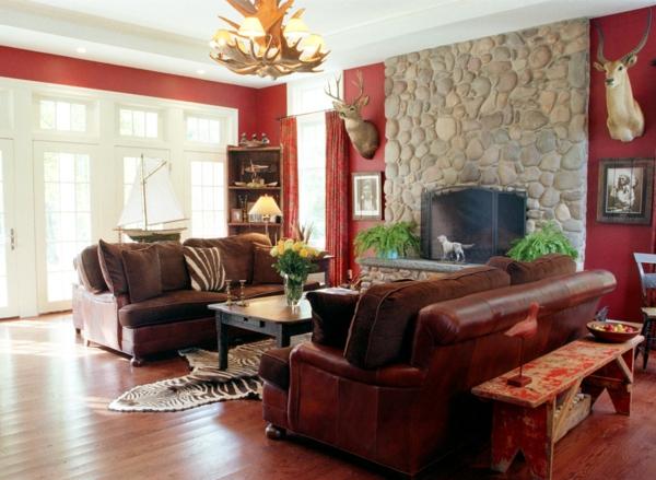 Wandgestaltung Rote Couch Wie Ein Modernes Wohnzimmer Aussieht Innovative