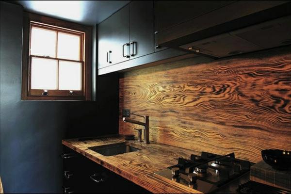 kreatives design vom küchenspiegel