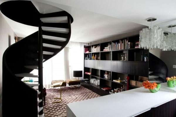 Designer Spiraltreppen im Wohnzimmer