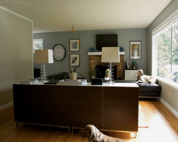 wände gestalten im wohnzimmer - schlichte farbnuance