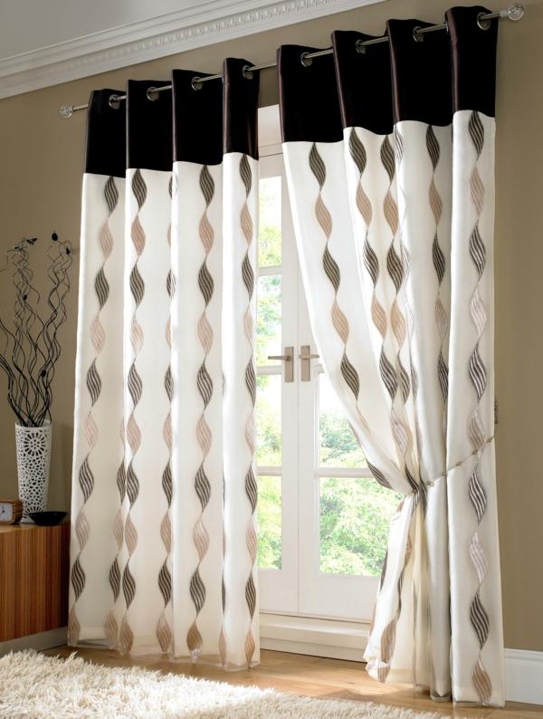 design : gardinen modern wohnzimmer braun ~ inspirierende bilder ...