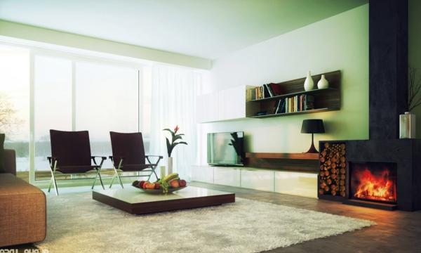 wie ein modernes wohnzimmer aussieht - 135 innovative designer ... - Wohnzimmer Design Mit Kamin