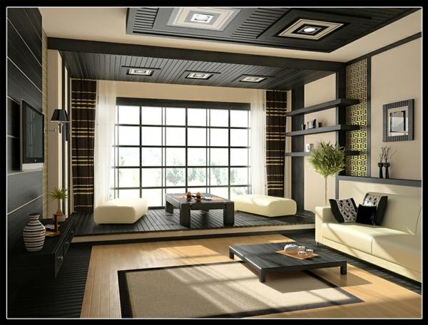 Wie ein modernes Wohnzimmer aussieht   135 innovative Designer Ideen
