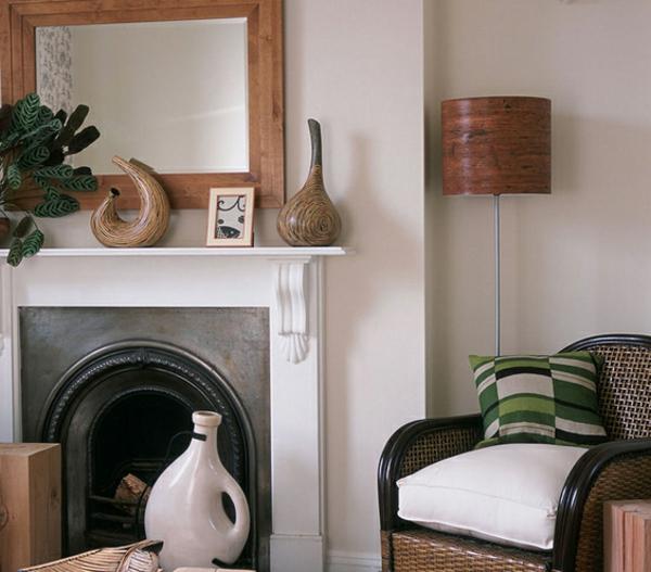 dekokissen und interessante möbel für ein modernes wohnzimmer