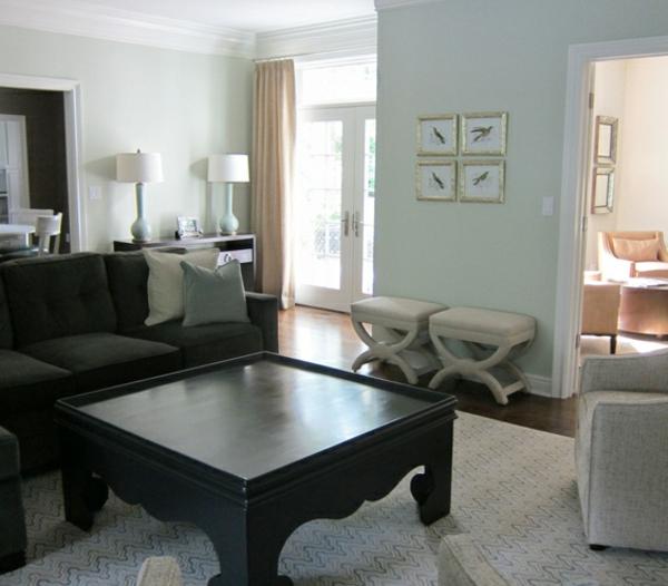 kontrastierende farben im wohnzimmer