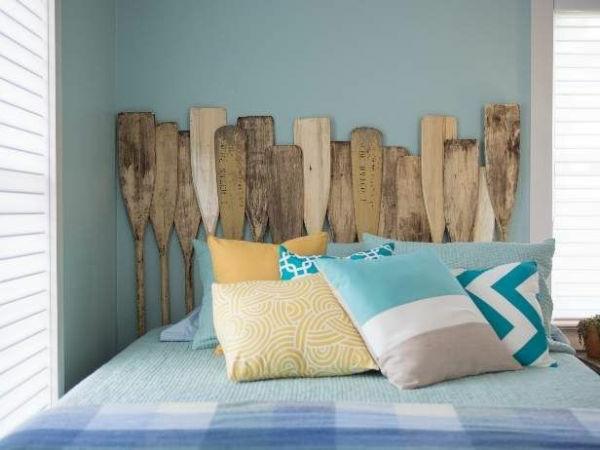 Kopfbrett aus Paddeln machen- super Idee fürs Bett Design
