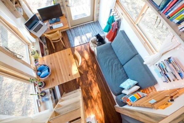 haus wohnzimmer oben:Ein schönes Foto des Wohnzimmers, von oben genommen