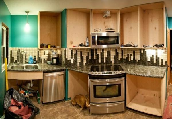 luxus küchenspiegel mit geometrischen figuren