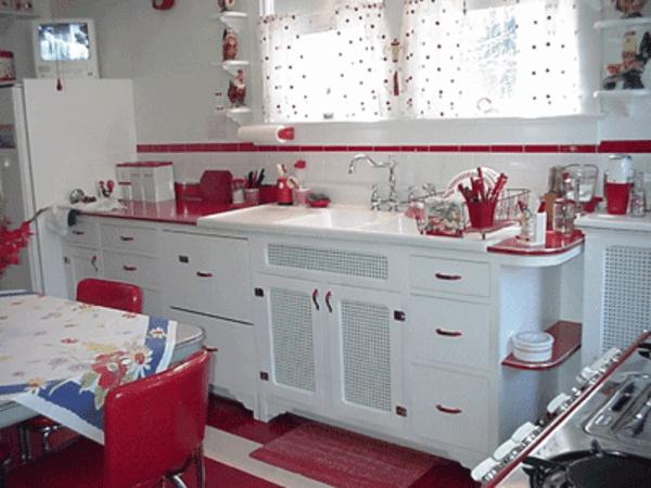 55 wundersch ne ideen f r k chen farben stil und klasse for Dekoration in rot