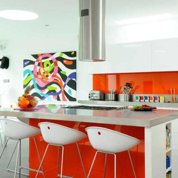 gemälde in der küche für eine originelle wandgestaltung - grelle farben
