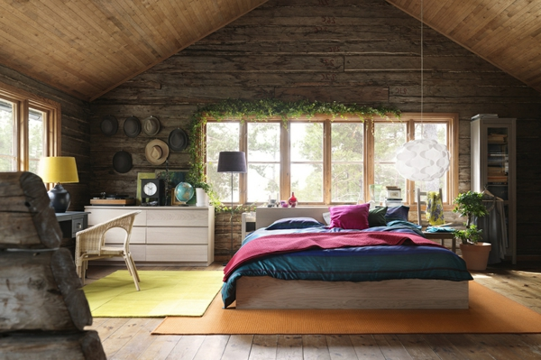 schlafzimmer mit grünen deko-pflanzen ausstatten