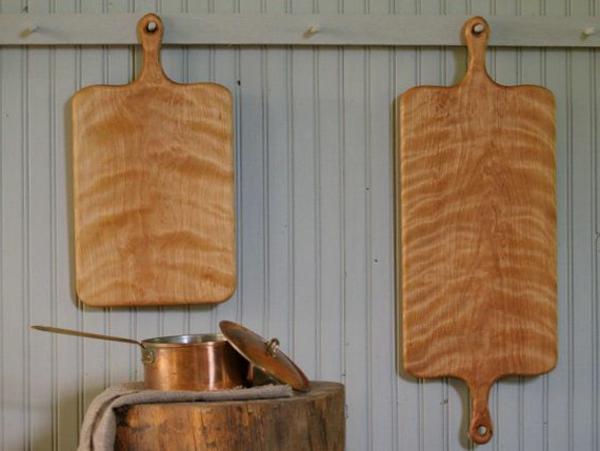 hölzerne küchenbretter an die wand aufhängen