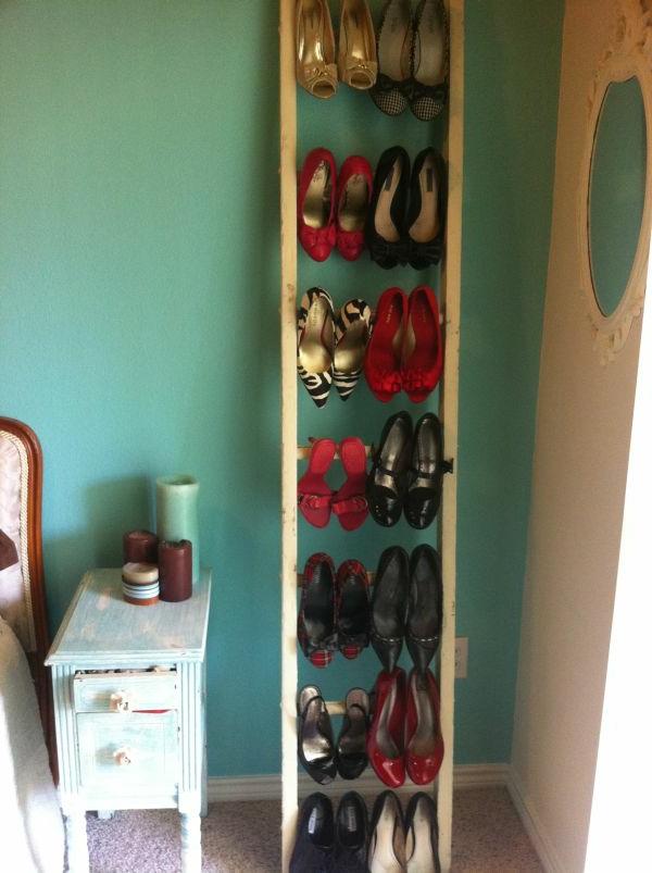 damen schuhe leicht organisiere - treppe verwenden