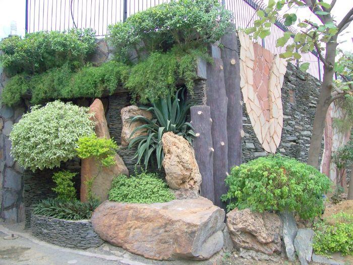 53 erstaunliche Bilder von Gartengestaltung mit Steinen ...