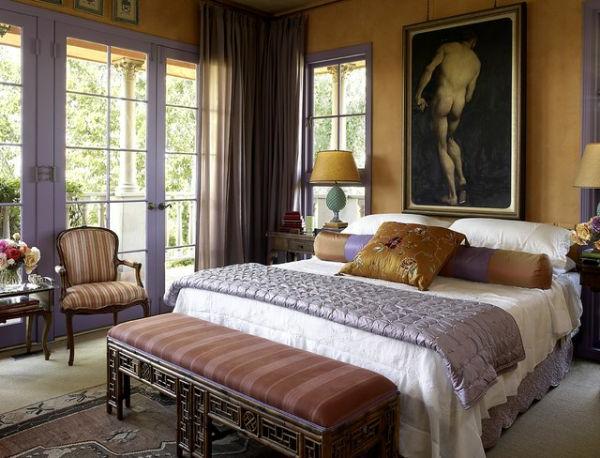 Modernes Design von Bett Kopfteilen- Meisterstück an der Wand