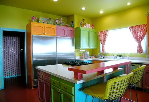 kuchen wandfarben beispiele, 55 wunderschöne ideen für küchen farben - stil und klasse - archzine, Design ideen