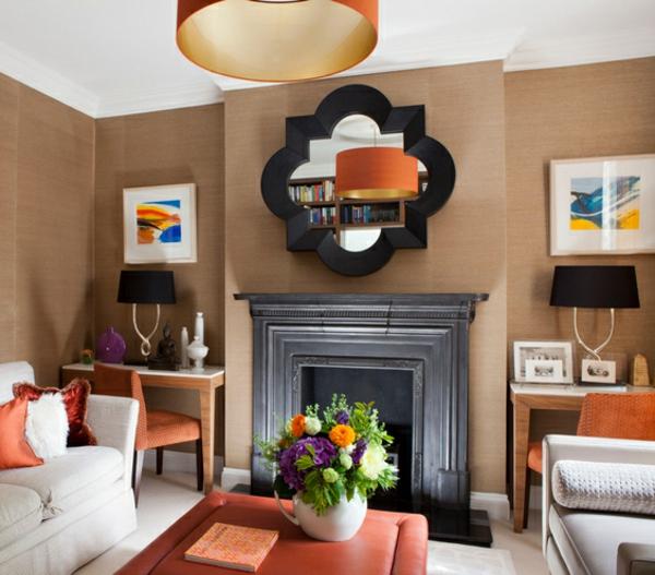 spiegel mit interessantem design fürs wohnzimmer