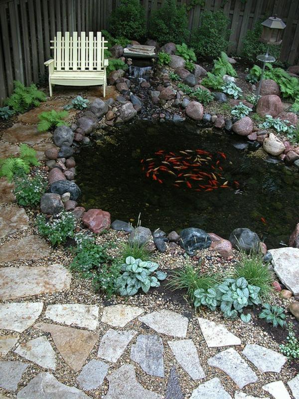 Wasser im garten freude die ganze familie for Gartenteich mit fischen