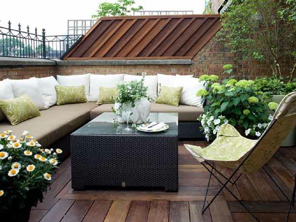 Sichtschutz Fur Terrasse Glas : terrassendielen großes sofa helle ...