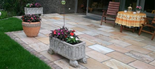moderne idee für terrassenplatten