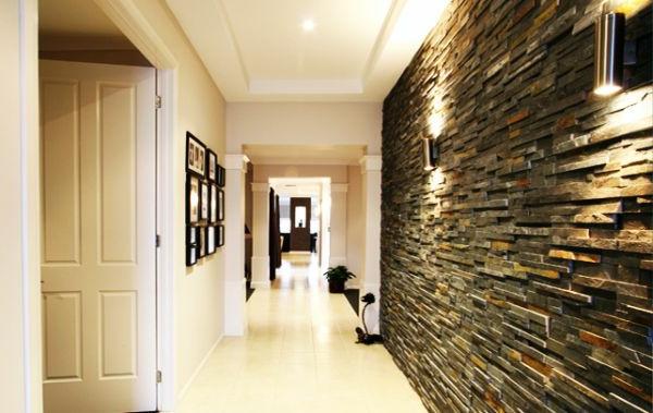Schöne Wand aus Stein im luxus Hausflur-innovative Wandgestaltung