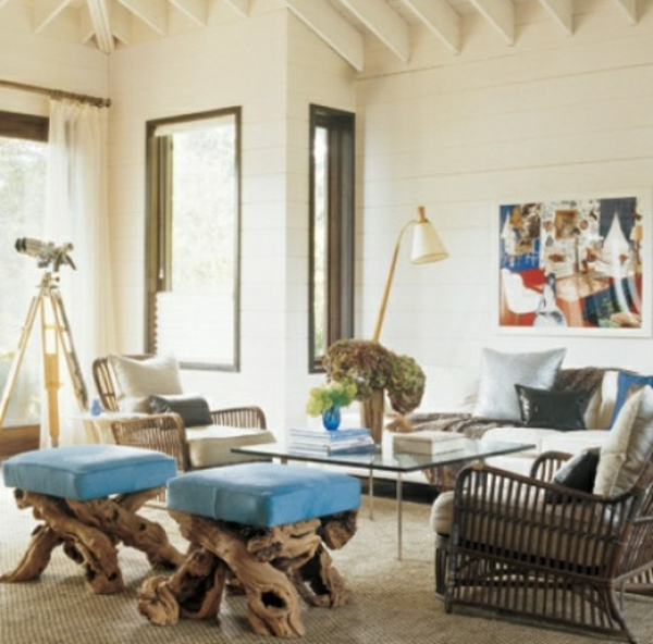 stuhl beinen aus treibholz - wohnzimmer kreativ ausstatten