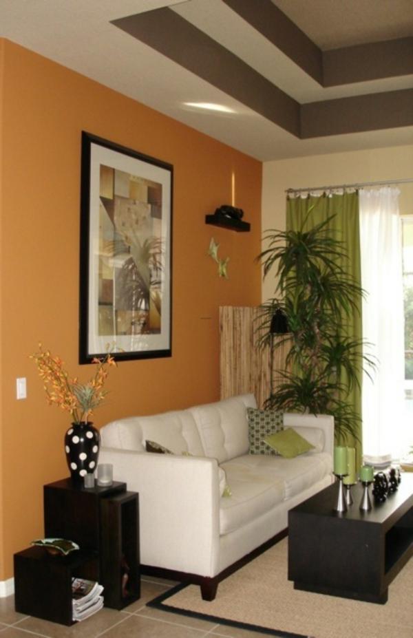 wohnzimmer streichen - 106 inspirierende ideen - archzine.net - Orange Wand Wohnzimmer