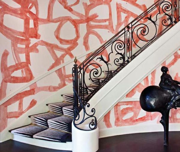 Wandgestaltung Treppenaufgang Gestalten: 62 Kreative Wände Streichen Ideen