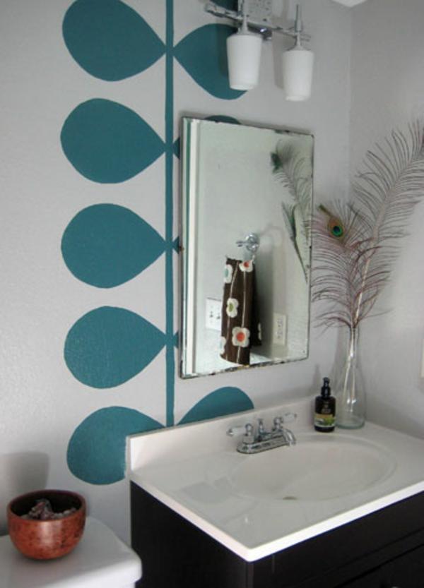 wände streichen ideen fürs badezimmer