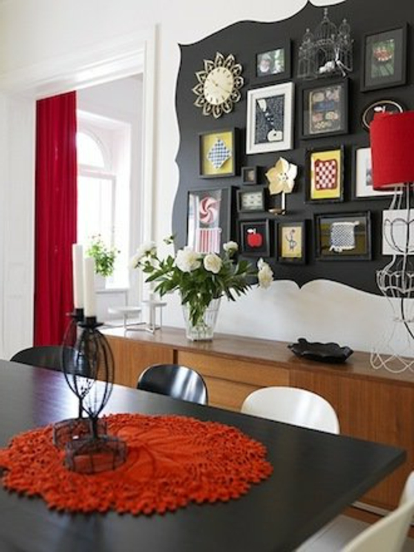 esszimmer design mit origineller wandgestaltung - bilder galerie