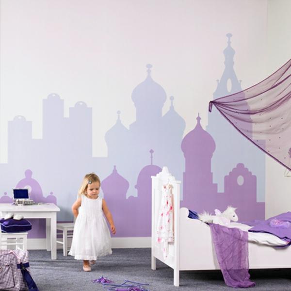 62 Kreative Wände Streichen Ideen - Interessante Techniken ... Ideen Fr Wnde Im Kinderzimmer