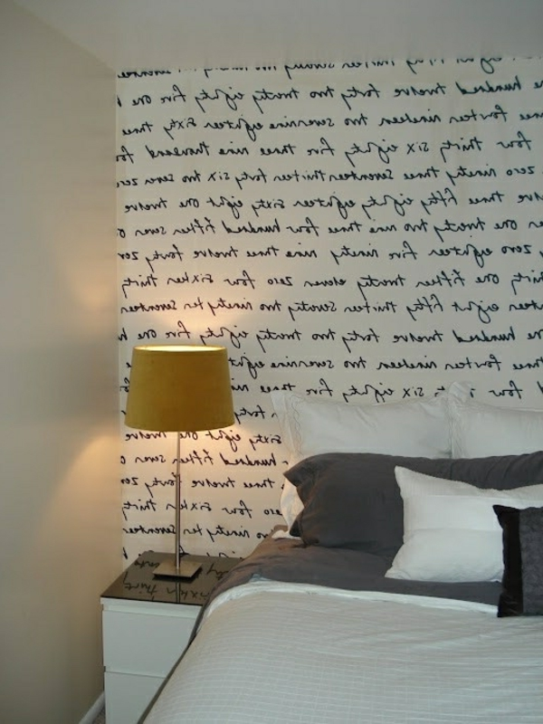 origibelle wände streichen ideen - aufschrift im schlafzimmer