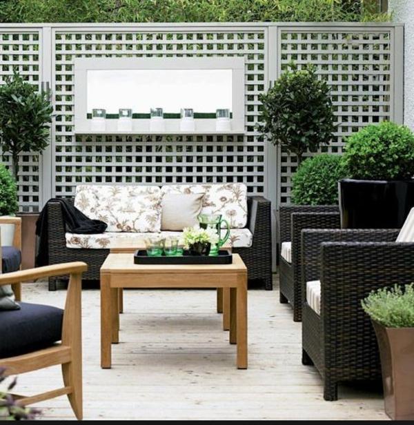 wand dekorieren - für eine moderne terrassengestaltung