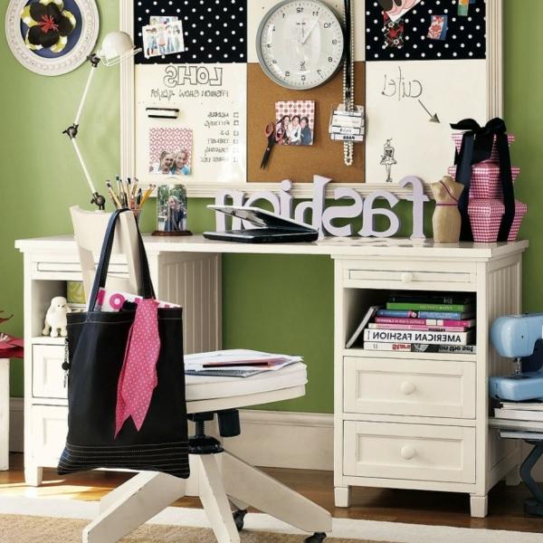 rosige und weiße farbe für kinderschreibtisch dekoartikel