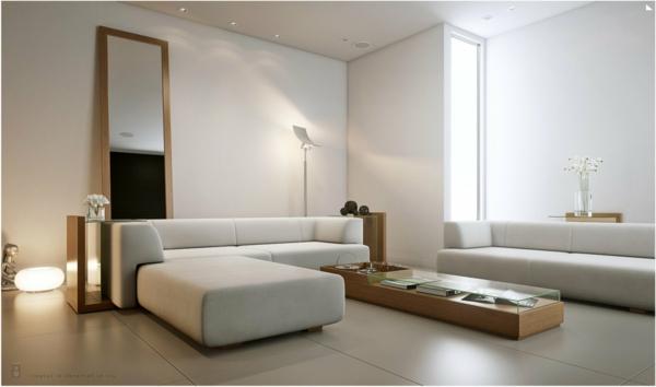 guter geschmack fürs wohnzimmer - weiße gestaltung