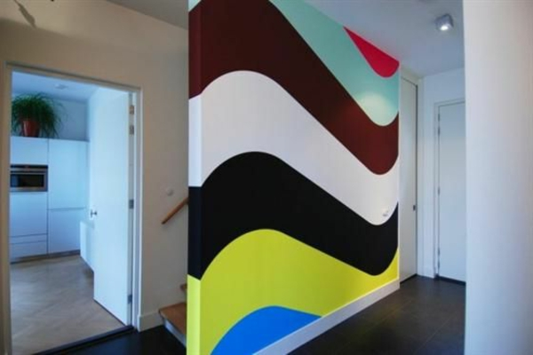 wand streichen - originelle bemalungen in verschiedenen farben