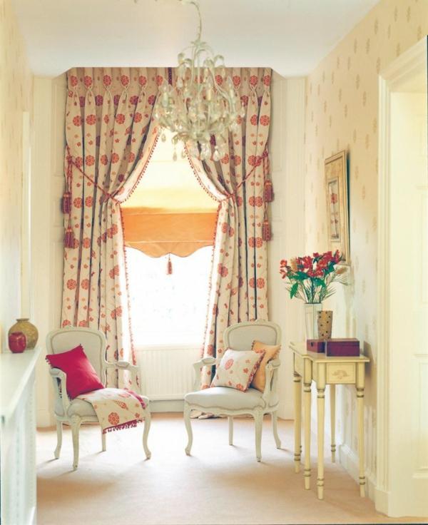 Lustige Farben für blickdichte Vorhänge - Idee für ein mdoernes Wohnzimmer