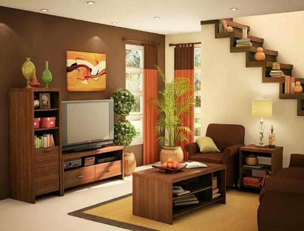 schöne einrichtung im kleinen wohnzimmer