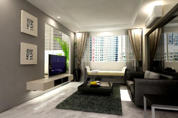 modernes interieur fürs wohnzimmer